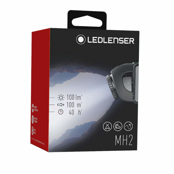 Ledlenser MH2 naglavna svjetiljka, kutija